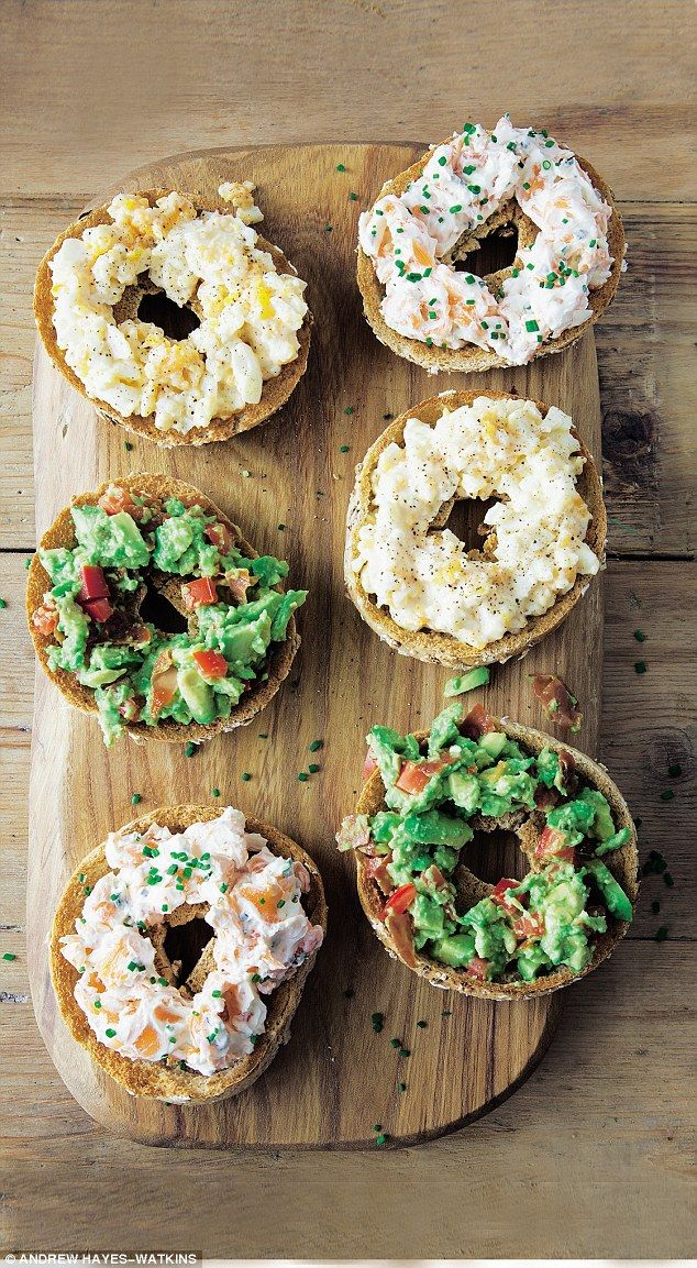 Healthy bagels // Davina McCall: Pitted bagels | Daily Mail Online