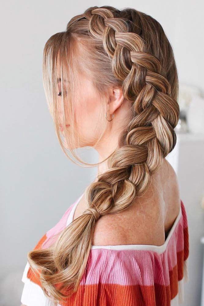 Cute And Creative Dutch Braid Ideas Lovehairstyles Com Dutch Braid Hairstyles Dutch Side Braid Braided Hairstyles