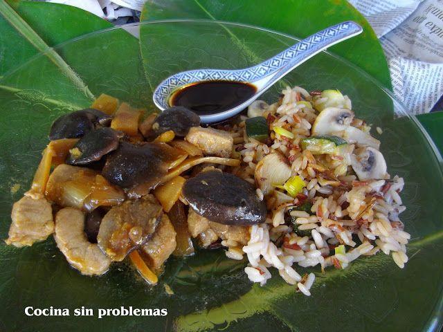 Cocina Sin Problemas: Ternera con bambú y setas shiitake