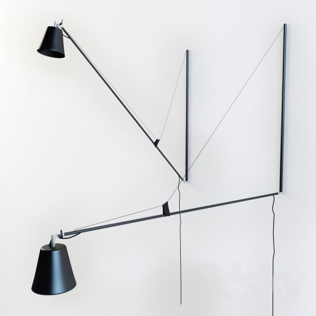 Hallo light by 45 kilo is inspired by Jean Prouves Potence Light