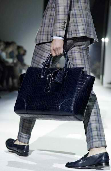 Omg, the bag is awesome, and the suit of course!!  XD  Gucci Mens Croc Briefcase