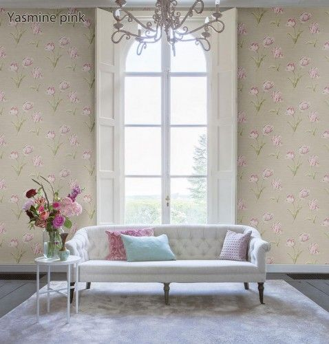 I love this take on the a vintage Victorian style of wallpaper. The floral has character but the flowers are also big and clear - would make any room feel larger.