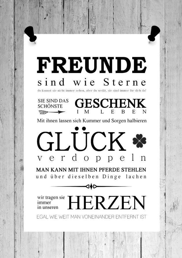 Originaldruck - Druck Kunstdruck Print FREUNDE Bild - ein Designerstück von homestyle-accessoires bei DaWanda