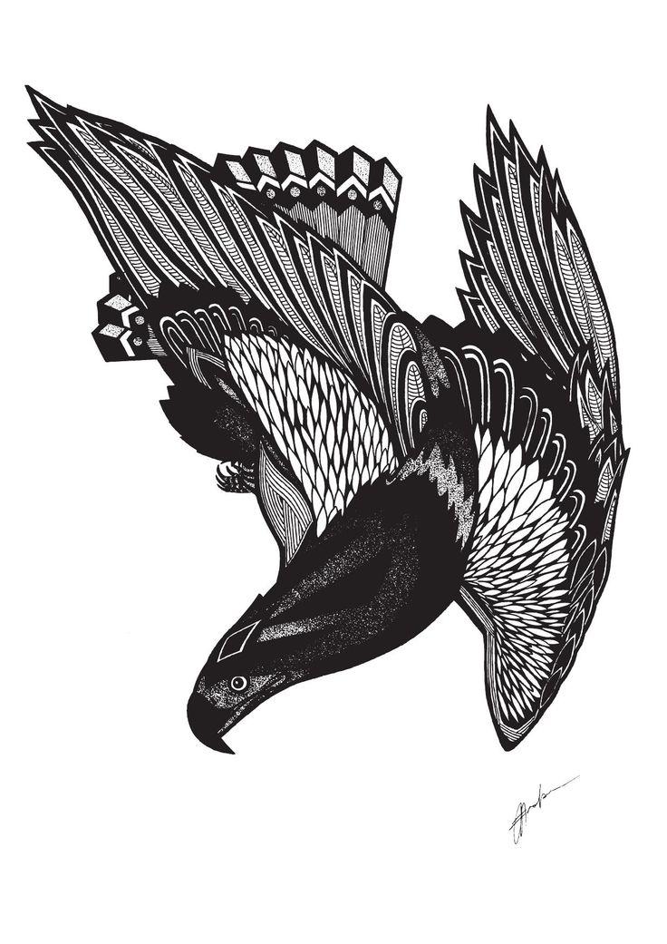 'Eagle' Illustration By Rachel J. Enoka