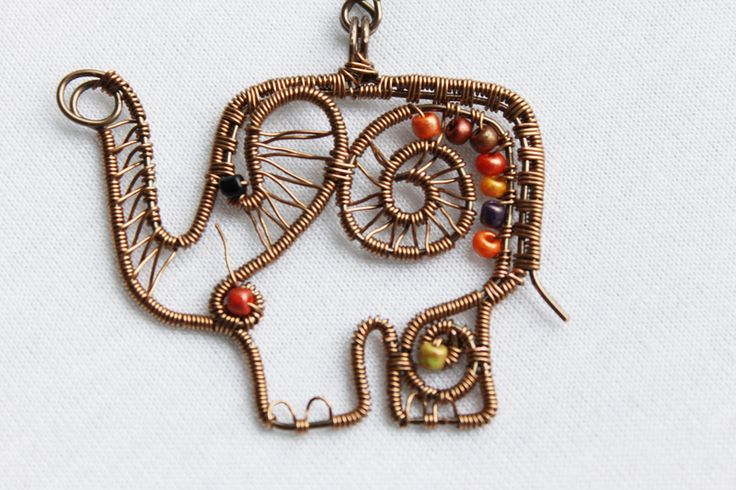 Olifant ketting, Afrika sieraden, Olifant van Make Crafts Not War  op DaWanda.com