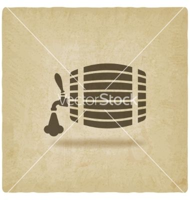 Beer barrel old background vector 2568359 - by natbasil on VectorStock®