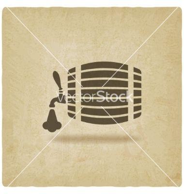 Beer barrel old background vector 2568359 - by natbasil on VectorStock®