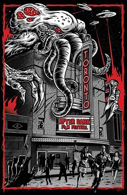 One of the best horror movie festivals anywhere, Toronto After Dark Film Festival had a great poster for it's 2012 screening. Done by Ghoulish Gary IIRC.