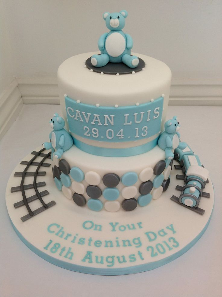 Fondant Cake For Baptism : A Boys Christening Cake by Fancy Fondant Cakes By Fancy ...