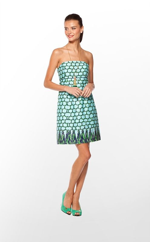 """Lilly Pulitzer """"Bowen"""" dress - the perfect Tulane gameday dress!: Dear Santa, Clothing Obsession, Lilly Pulitzer, Ball Gowns, Nola Belle, Cameo White, Bowen Dresses, Gameday Dresses, Clothing Horses"""