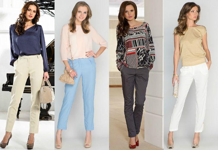 Гардероб для фигуры «Треугольник». Верный выбор: прямые, классического покроя брюки; джинсы прямые или с клешем от линии колена; брюки или джинсы с высокой посадкой.