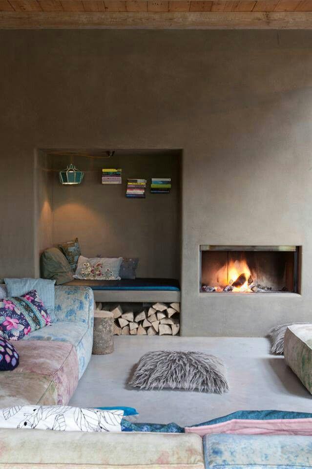 Imagen Inspiración por MOLITLI Yeso Estudio ambiente agradable para el exterior y con un cementstuc se crea una pared exterior tales