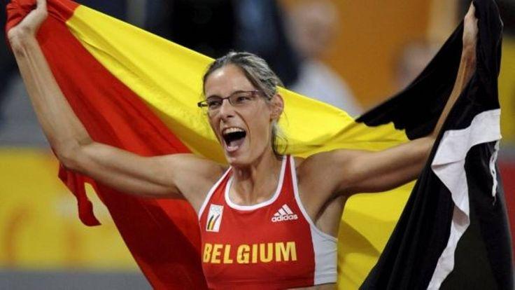Tia Hellebaut | Tia Hellebaut en finale du saut en hauteu.  OS guld höjdhopp 2008 Beijing.