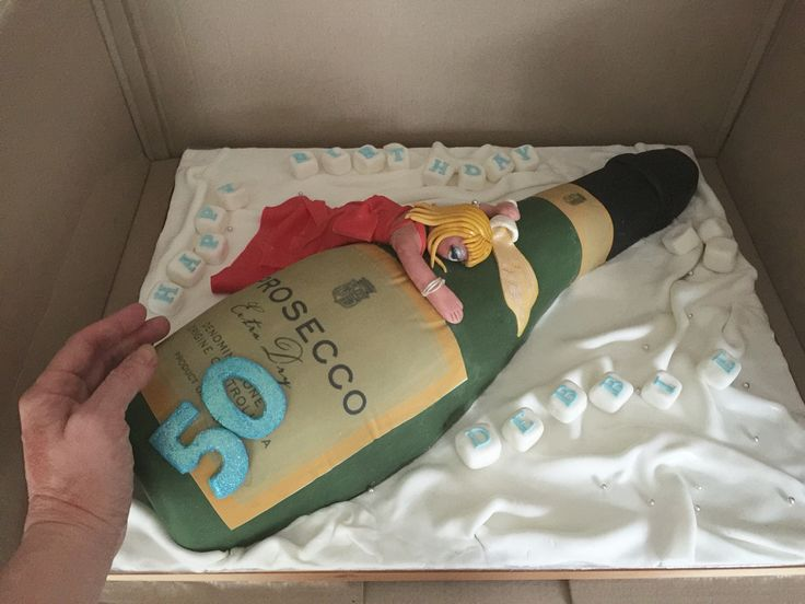 Huge Magnum Bottle Cake Prosecco 50th Birthday 60th