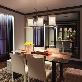 This Over Sized Linear Chandelier Kichler 42548clp Kitchen Island Lightingdining Room