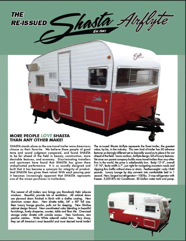 1961 Shasta Airflyte Reissue (1961 Shasta Airflyte): Terry Town RV Superstore
