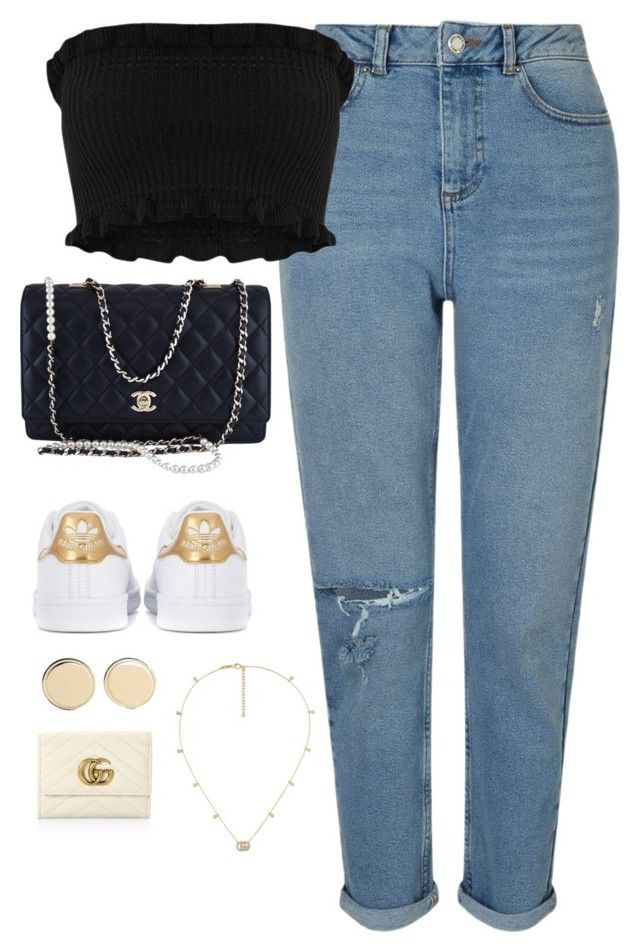 """Untitled #4111"" by magsmccray on Polyvore featuring Miss Selfridge, Chanel, adidas Originals, Gucci and Givenchy"