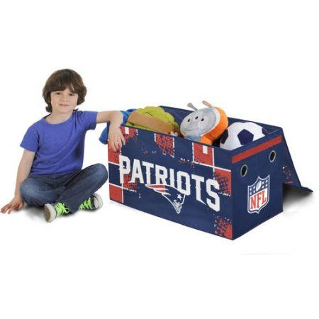 NFL Collapsible Storage Toy Trunk, Choose Your Team, Multicolor