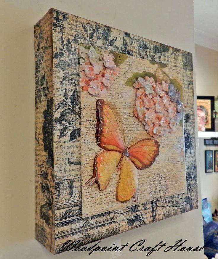Wood painting, Hand made, Decoupage, Ahşap boyama, El yapımı, Dekopaj,