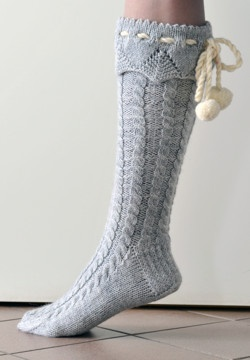 I would give someone this pattern so they could make these lovely socks for me!