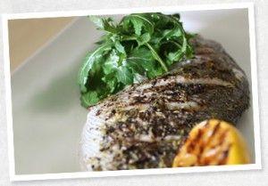 BBQ Snapper, caramelised Lemon and Wasabi Salad leaves - Tripod Farmers Group