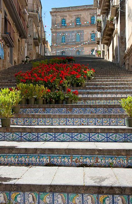 Steps of Caltagirone, Sicily, Italy