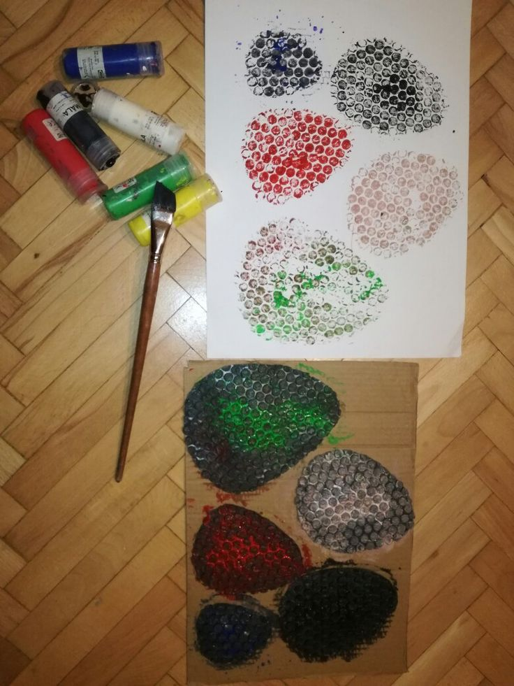 Easter egg bubble wrap idea.