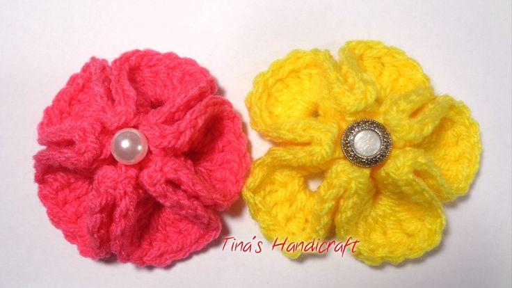 3D crochet flower No 8