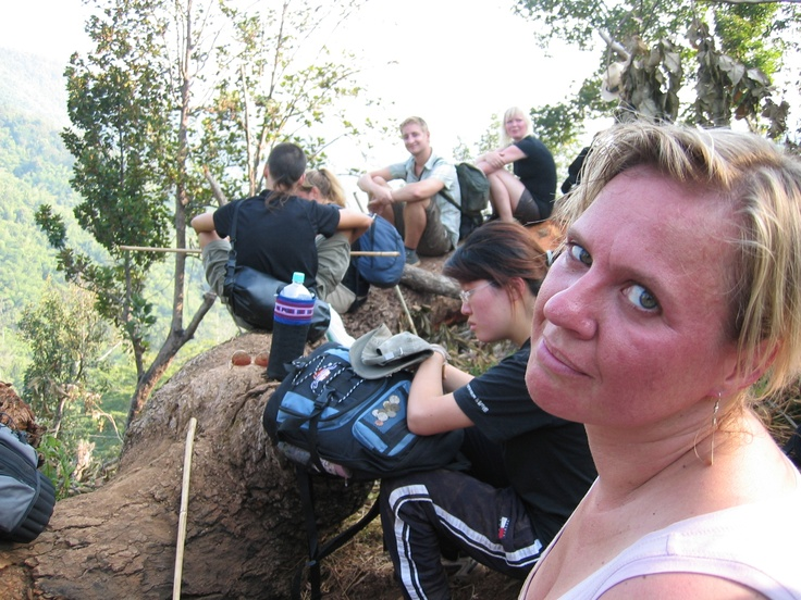 On the top-jungle trekking