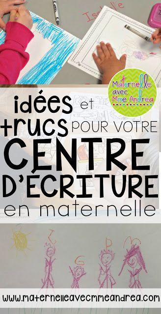 Centre d'écriture | Centres d'apprentissage | Écriture en maternelle | centres de littératie
