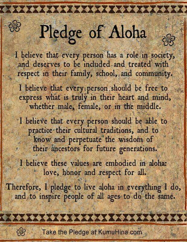 Image result for pledge of aloha
