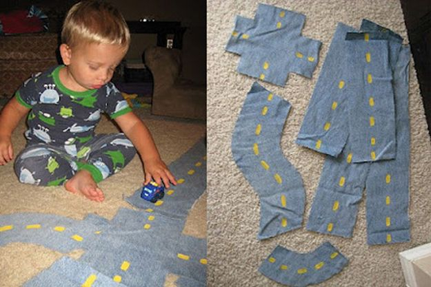 Moveable Fabric Road | 29 Easy And Adorable Things To Make For Babies