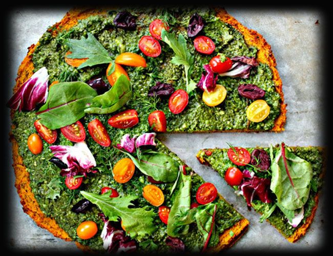 Green pizza!? We'll have a slice of that!