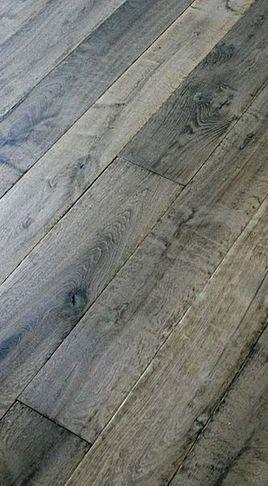 The fantastic aged gray on this oak flooring is really lovely. Going for that calm, timeless french country look?