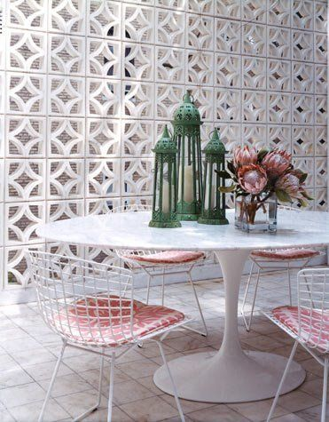 Sala de jantar com cobogós
