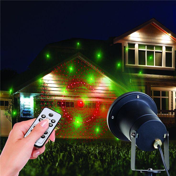 projector christmas light outdoor indoor 8 patterns gobos laser light for landscape garden yard lawn - Laser Light Show Christmas