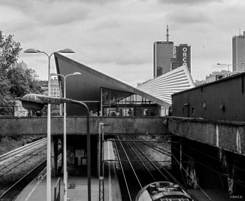 PKP Warszawa Ochota, (Warszawa Ochota railway station), Warsaw, Poland, built betwen 1954-62, Architects Arseniusz Romanowicz, Piotr Szymaniak.