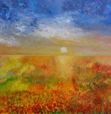 """Saatchi Online Artist Wietzie Gerber; Painting, """"Exhiliration - SOLD"""" #art"""