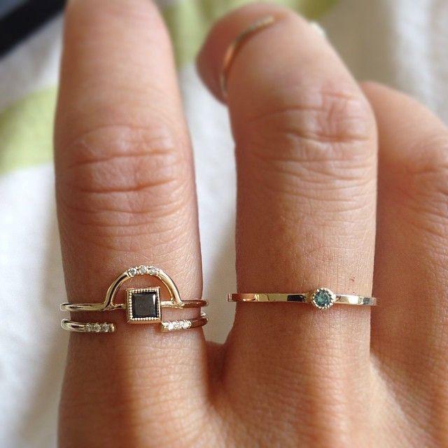 JENNIE KWON DESIGNS / BLACK DIAMOND ARCH RING
