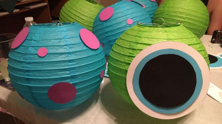 Monsters Inc Lantern Balls. Baby Shower/Nursery Decorations.