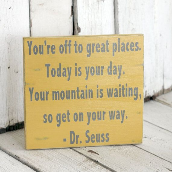Your Mountain is Waiting  Dr Seuss  Hand by MannMadeDesigns4, $35.00