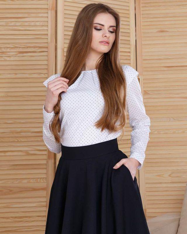 Damska bluzka w groszki w stylu retro Idealna do pracy oraz na specjalne okazje  -30%  http://ift.tt/2hpdC8I