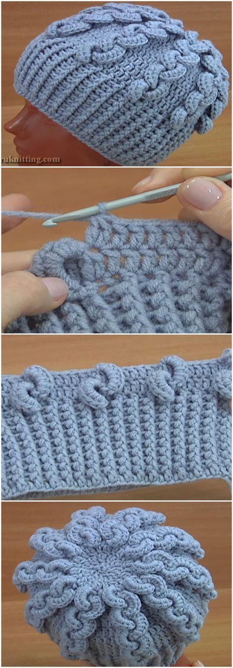 Crochet Beanie Hat Trim Stitch