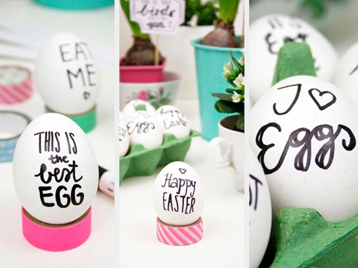 DIY-Anleitung: Oster-Handlettering selber machen / lettering on Easter eggs, we show you how it's done via DaWanda.com