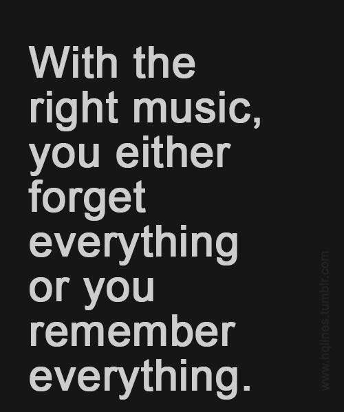 You uncover the fabric of a person with the music they play you. You create new memories.