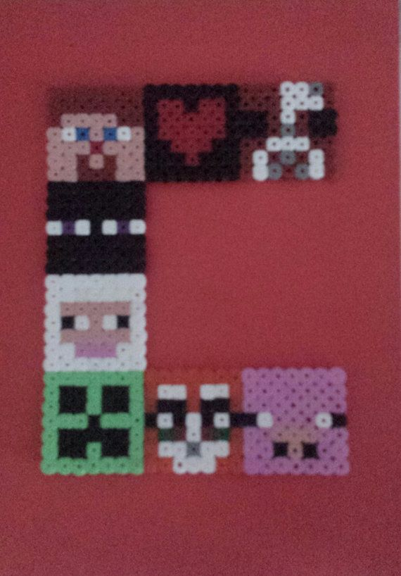 Personalised Minecraft Character Initals by DistinctiveKrafts