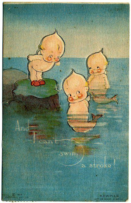 Kewpie mermaids.