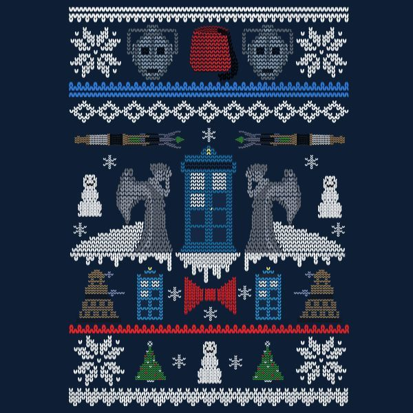 who s sweater is this by dc visual arts have a wibbly wobbly timey wimey christmas doctor who ugly sweater design