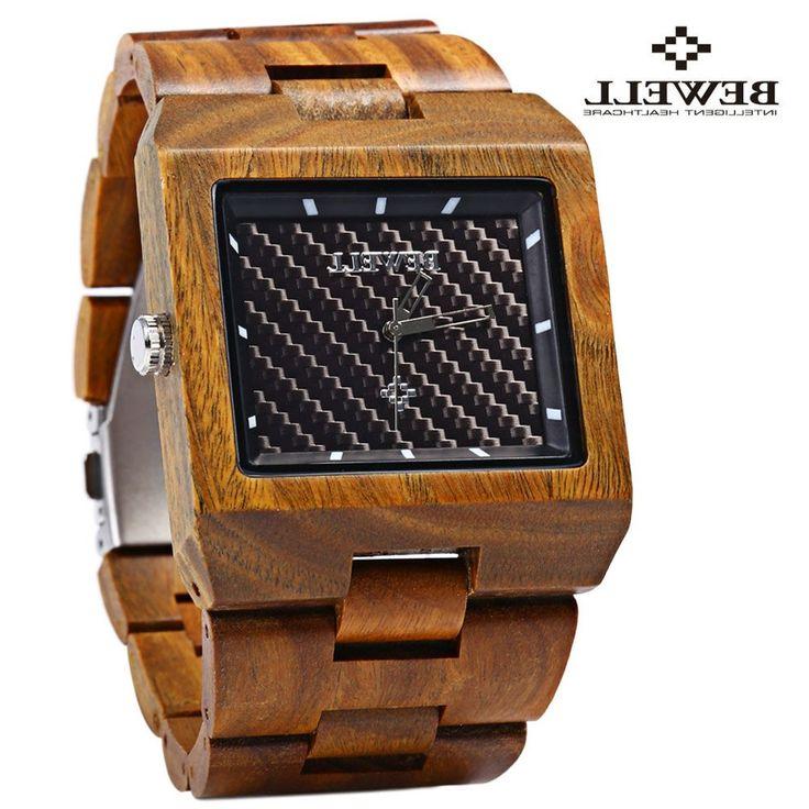 28.52$  Buy here - https://alitems.com/g/1e8d114494b01f4c715516525dc3e8/?i=5&ulp=https%3A%2F%2Fwww.aliexpress.com%2Fitem%2FBewell-ZS-W016A-Men-Quartz-Watch-Rectangle-Dial-Wooden-Band-Analog%2F32604457005.html - Bewell Men Wood Quartz Watch Rectangle Dial Wooden Band Waterproof Japan Movtment Analog Wrist Watches 2016 relojes 28.52$