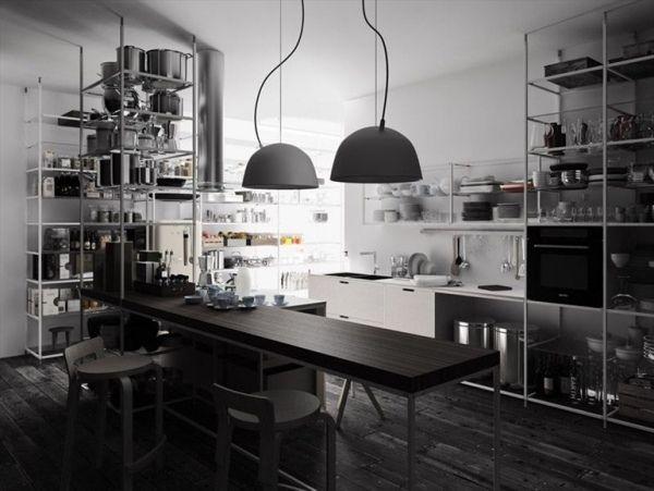 küche industrie inspiriert pendelleuchten | bb_kitchen | pinterest, Kuchen
